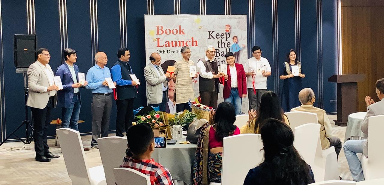 """11-year old Surti boy Shaurrya Singhvi launched his first book, """"Keep the Ball Rolling"""""""