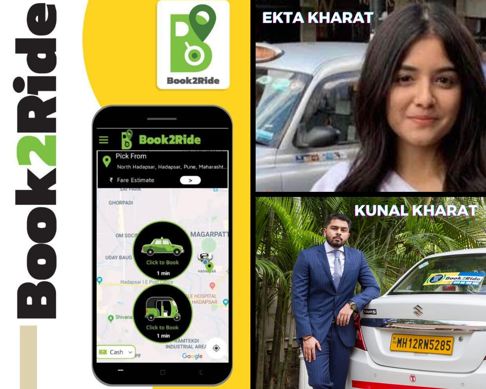 Make in India- BOOK2RIDE a local transportation app launched on Republic Day to ease out the local commute and mobility issues of India
