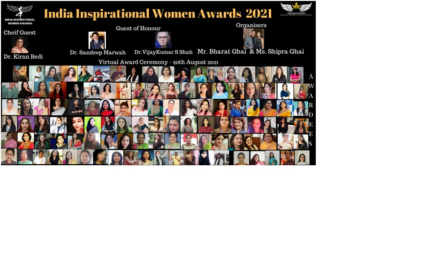 India Inspirational Women Awards 2021 Organised by DreamCatchers