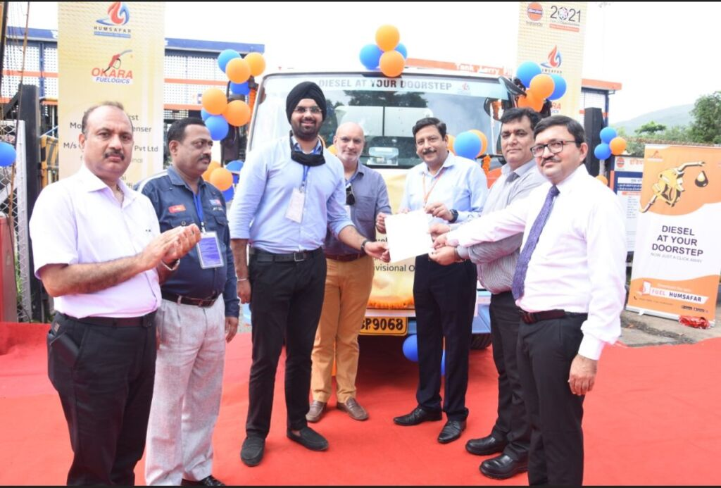 Indian Oil Launches App-Based door step Diesel Service in Mumbai in League with Okara Fuelogics and Humsafar India